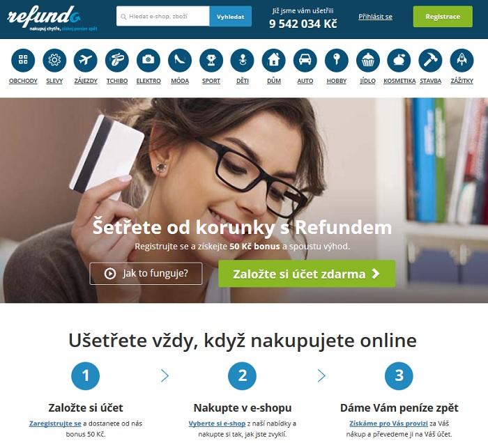 Cashback Refundo.cz - vrátenie peňazí z nákupu 57e8ffb59dd